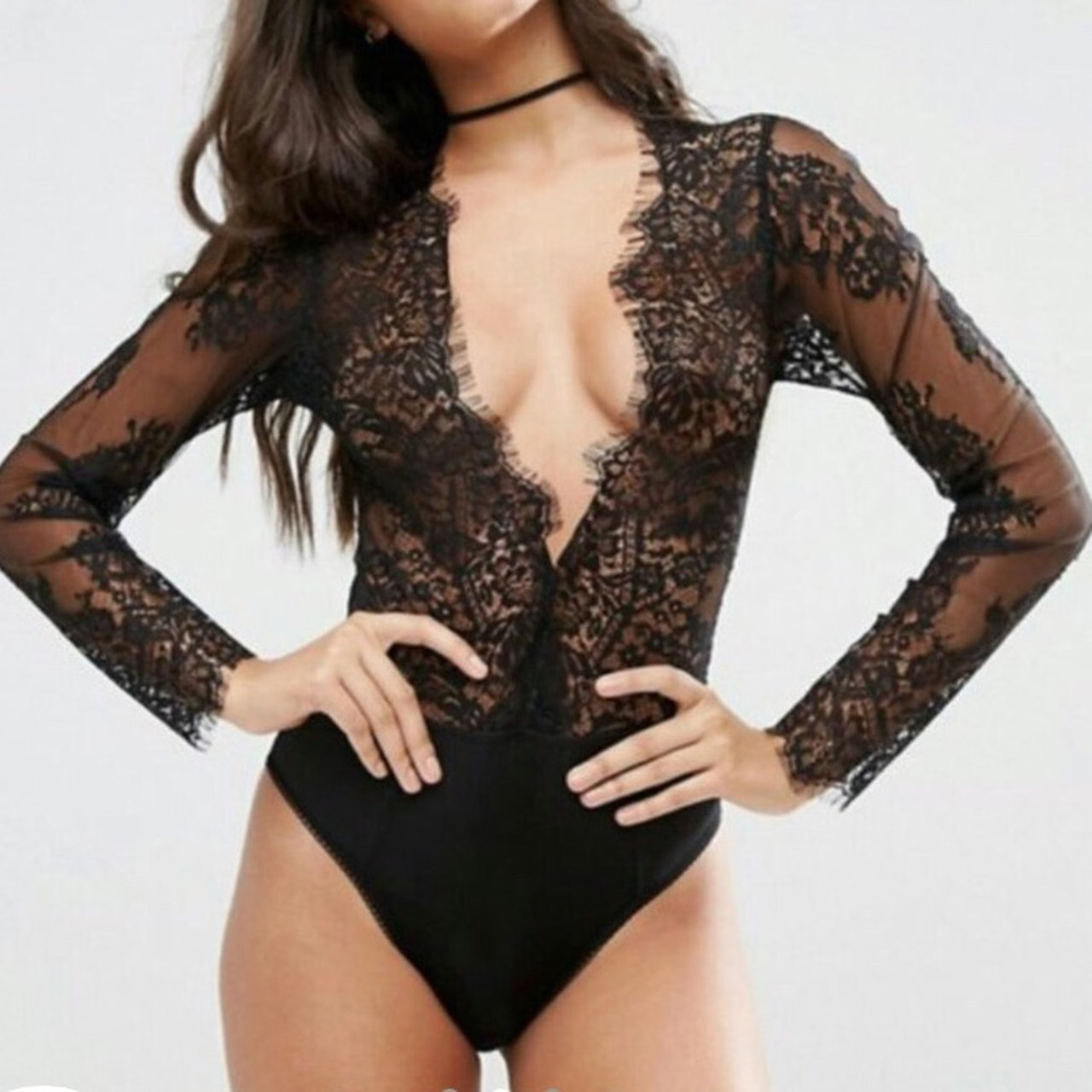 77751dd119de @franbradshaw2. last year. Nottingham, United Kingdom. Asos Black lace  bodysuit ...