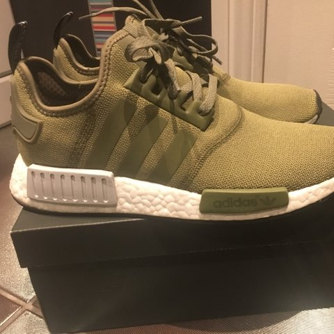 9154c808f Olive green Adidas NMD - UK Size 9 Excellent condition only - Depop