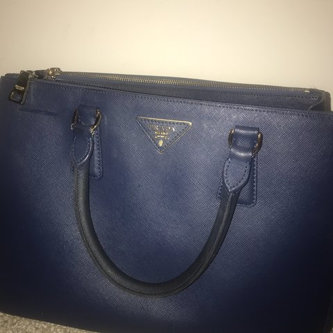 5f99f9db807e Lovely blue Prada bag - sold as seen. Lovely bag, can see in - Depop