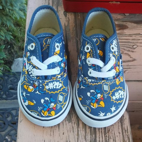 add088191b New Children s Disney Vans Off The Wall Donald Duck Shoes 5 - Depop