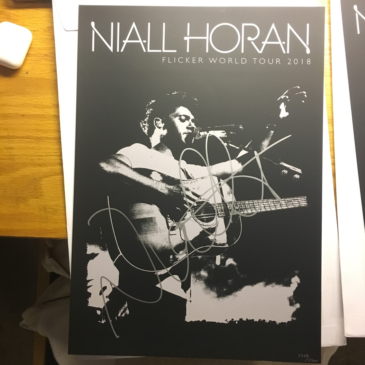 Niall Horan Tour Flicker 2018 Poster Authentic Autograph With Poster Number VIP