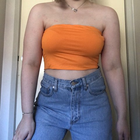 b469b71c713 🦋 NEON ORANGE BOOB TUBE 🦋 - brand new and legit worn just - Depop