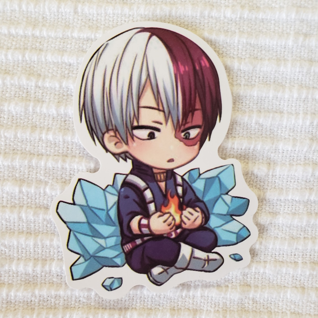 Chibi Todoroki With Fire And Ice Sticker Is About 7 Depop