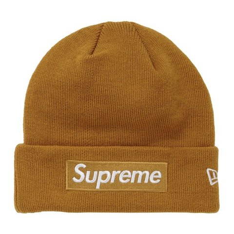 12de4fd1922 Supreme mustard box logo beanie👆🏽 FW18🍁 Will post ASAP to - Depop