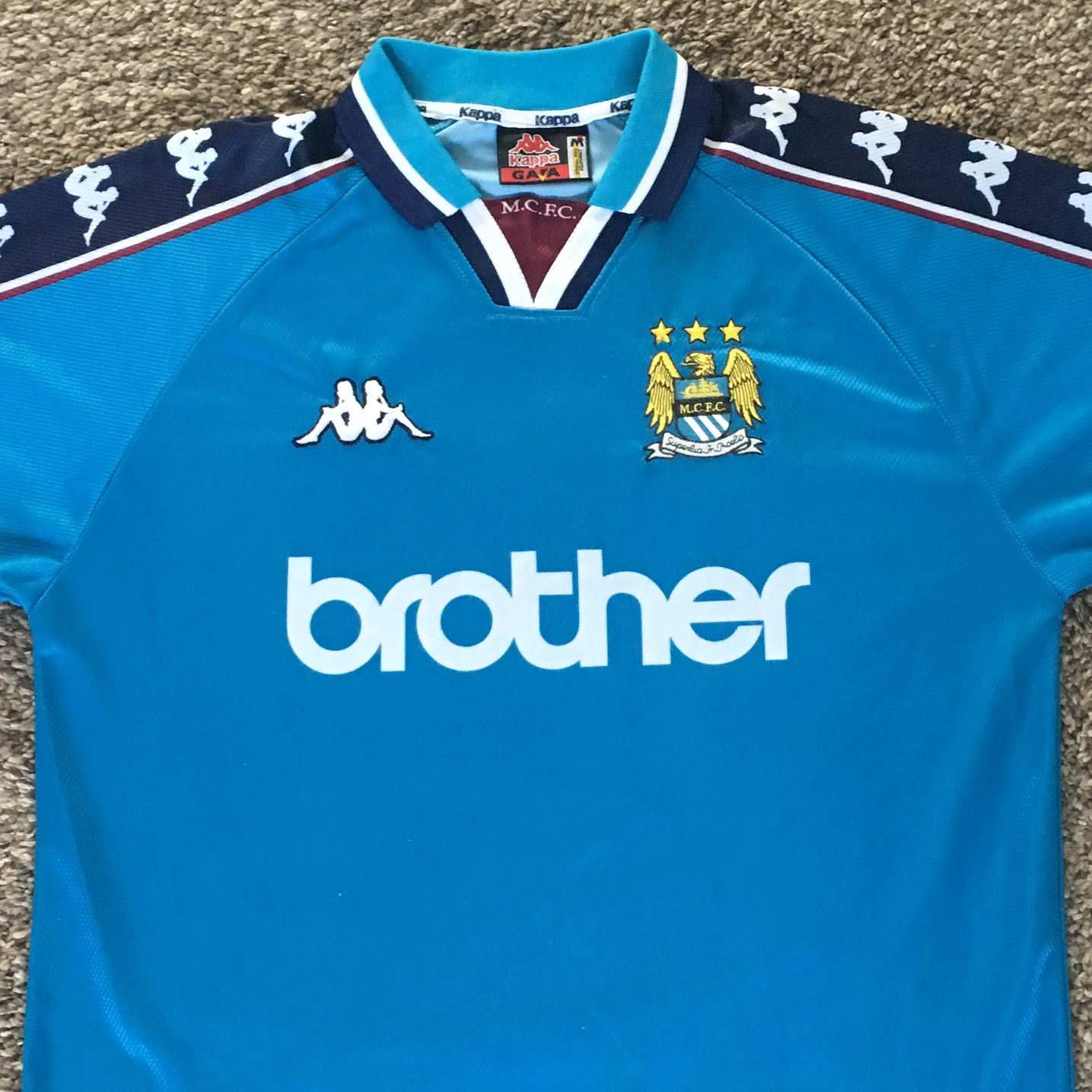 watch d70cd d3a67 Classic retro kappa Manchester City shirt. 1997-99.... - Depop