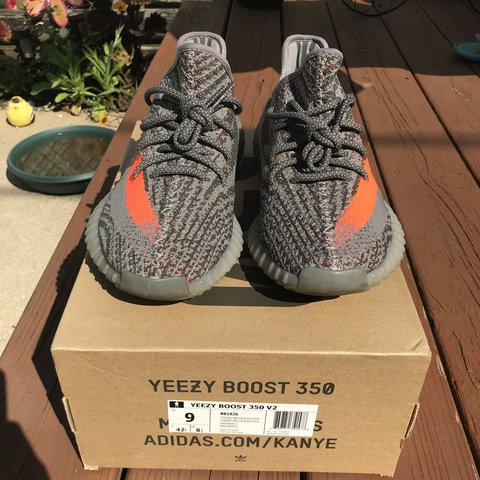 fee0031a3 Adidas Yeezy Boost 350 V2 Beluga Size 9 Preowned. Worn to - Depop