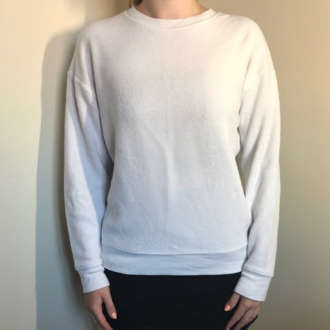 2413d320656 Topshop petite soft thin white jumper in size 4. In good - Depop