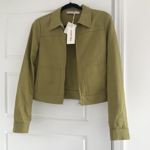 99ee0c48a52e5 Brand new See by Chloe green short jacket | size 10 but fits - Depop
