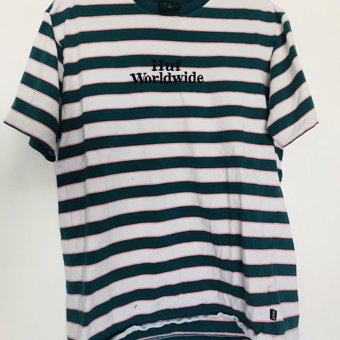 0b2c12a394 @st_dmngz. 9 months ago. San Francisco, United States. HUF STRIPED T-SHIRT  Brand: HUF Size: Large