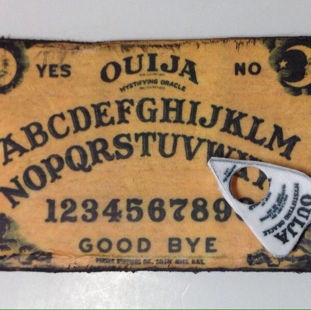 Tiny Ouija Board Game With Planchette Handmade OOAK