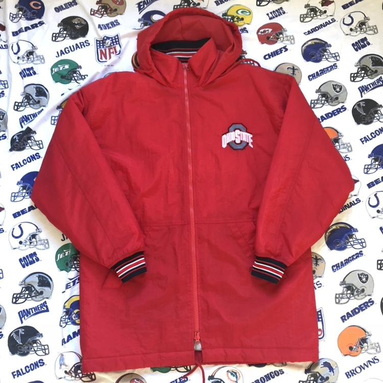 Retro The Ohio State Buckeyes Packable Hooded Winter