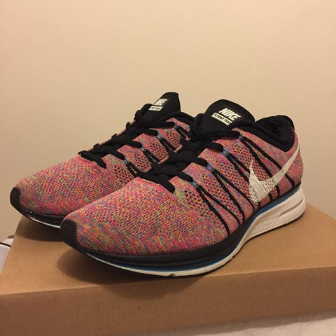 new concept 252b7 8030a 2013 Nike Flyknit Trainer 'Multicolor'. Limited edition from - Depop