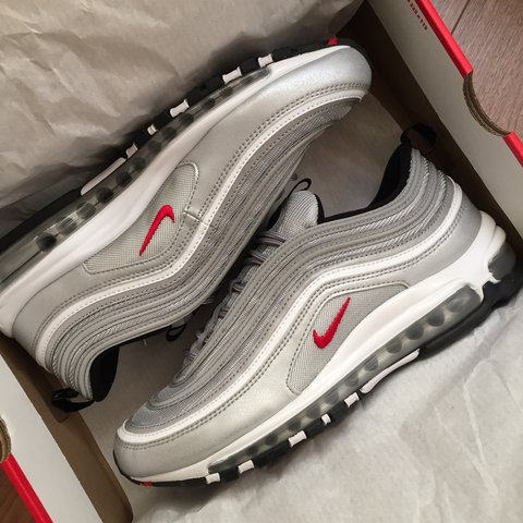 e97ffea0be 2017 Nike Air Max 97 OG QS 'Silver Bullet'. Brand new, never - Depop