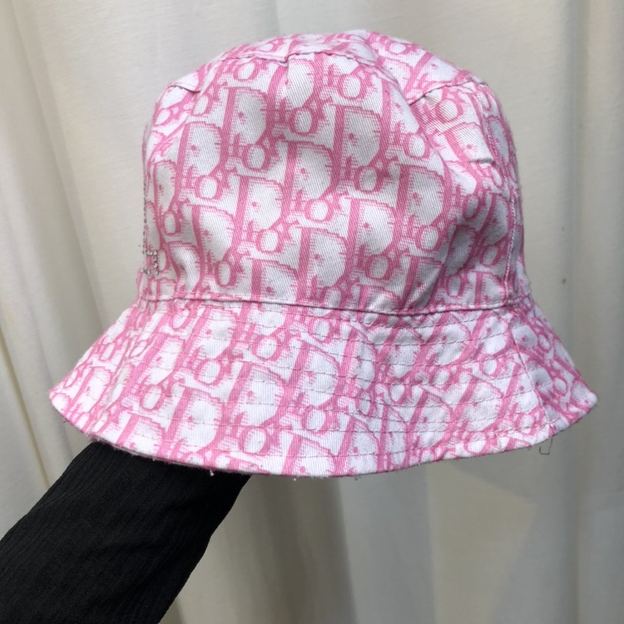 Dior Monogram print bucket hat. Vintage condition- vintage - Depop 2fc14b354d3