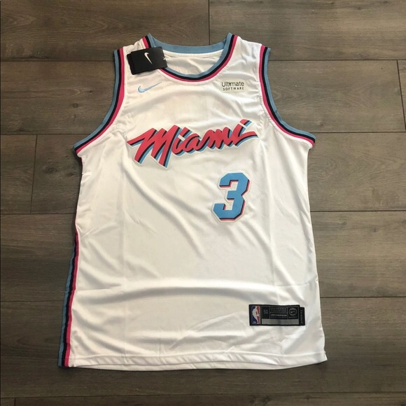 buy online 76220 ba335 Dwyane Wade Miami Heat Miami vice City Edition... - Depop
