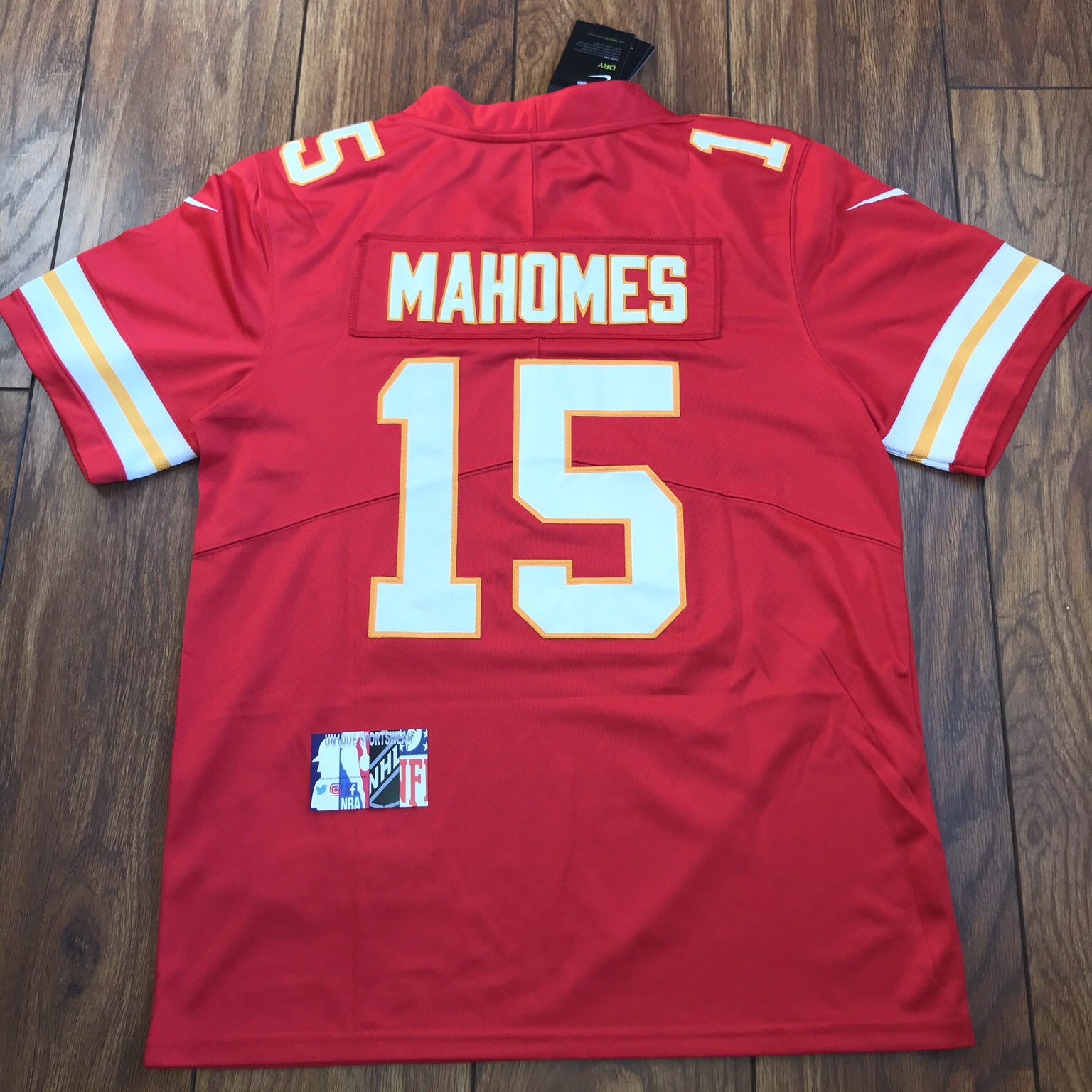 free shipping 512c3 7f9b6 Patrick mahomes - Kansas City Chiefs red nfl... - Depop