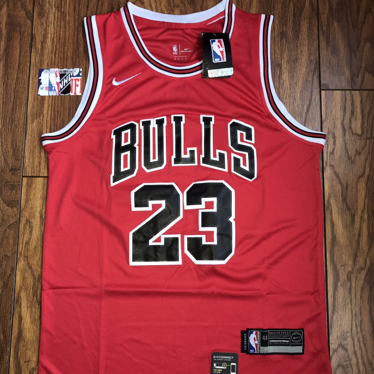 timeless design ee5ff 229cf Michael Jordan - Chicago Bulls red stitched nba... - Depop