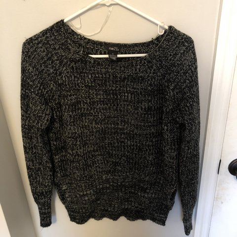 17f29d1d18 Black and white sweater from Rue 21. Size small but could a - Depop