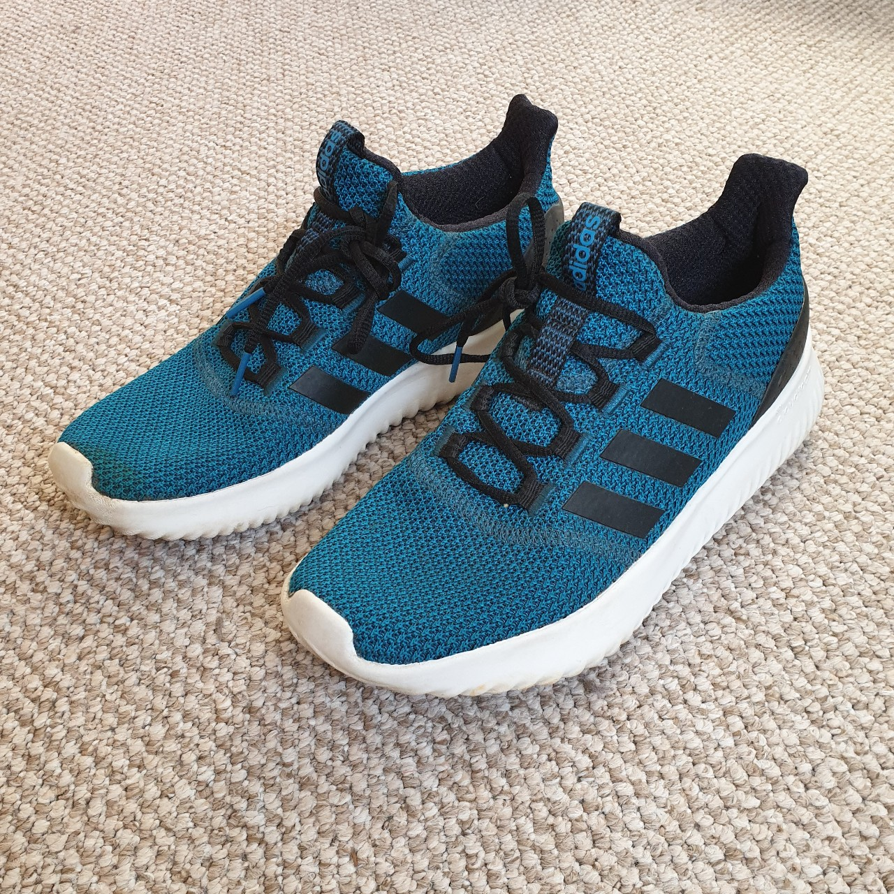 Adidas Neo Cloudfoam Ultimate blue teal trainers Depop