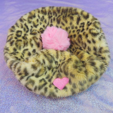 35caf493d583c For  orangeflowerchild Lazy Oaf Leopard Love Beret. One the - Depop