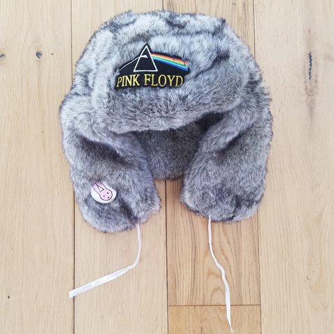 0afd7a53238d5 Faux fur customized hat I customised it with a Pink Floyd - Depop