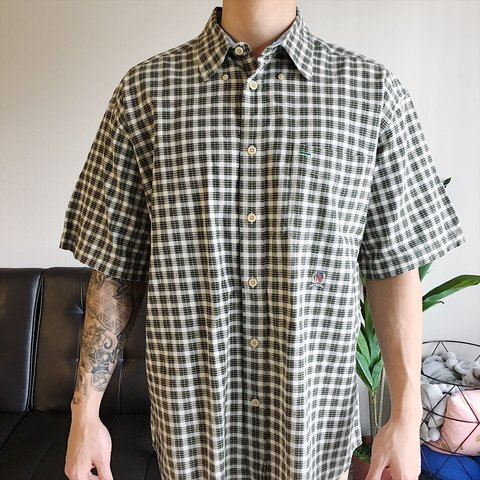 81048973 @walksinapril. 8 months ago. Austin, United States. Vintage 90's Tommy  Hilfiger Plaid Button-up Shirt Size: L