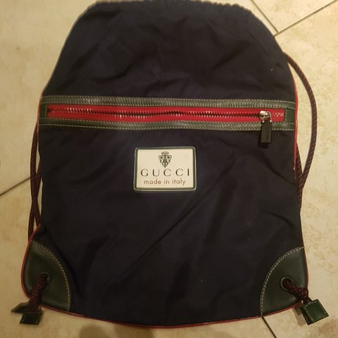 4add507175b Gucci Drawstring Backpack on back can be seen in photos the - Depop