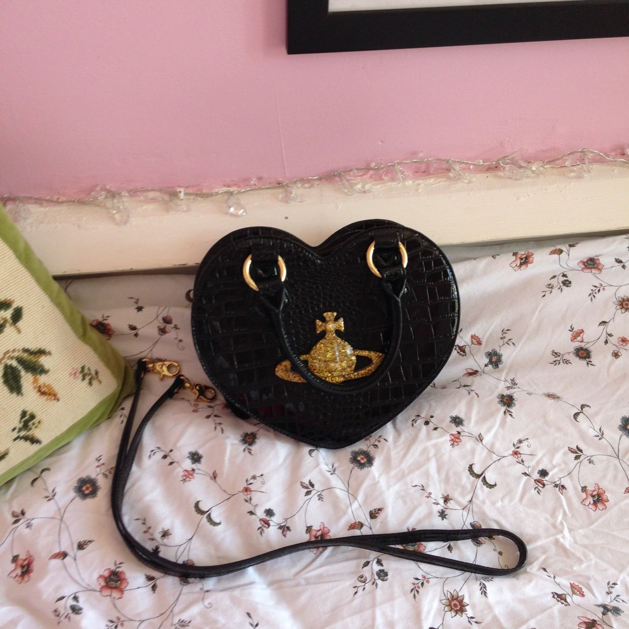 e7198492b24 @ms_polkadot. 3 years ago. Luton, Luton, UK. Vivienne Westwood chancery  heart bag in black ...