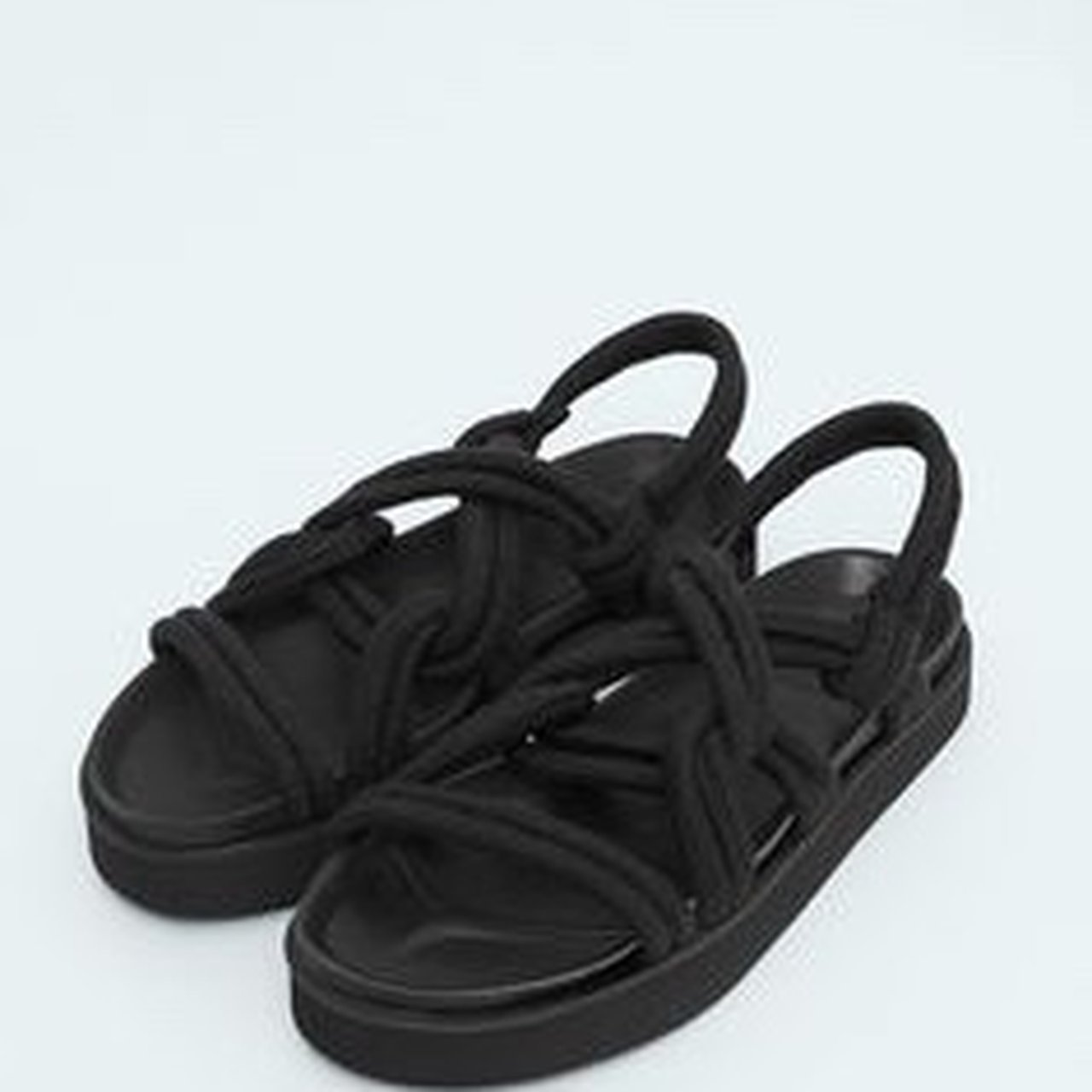 3519f8be021 REPOP! Black mango rope sandals. Think they re called cord 6 - Depop