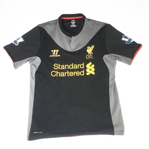 3fe4548839b  simplyretro. in 19 hours. United Kingdom. 🔥 LIVERPOOL F.C. WARRIOR JOE  ALLEN 24 2012 - 2013 BLACK AND GREY AWAY FOOTBALL SHIRT🔥