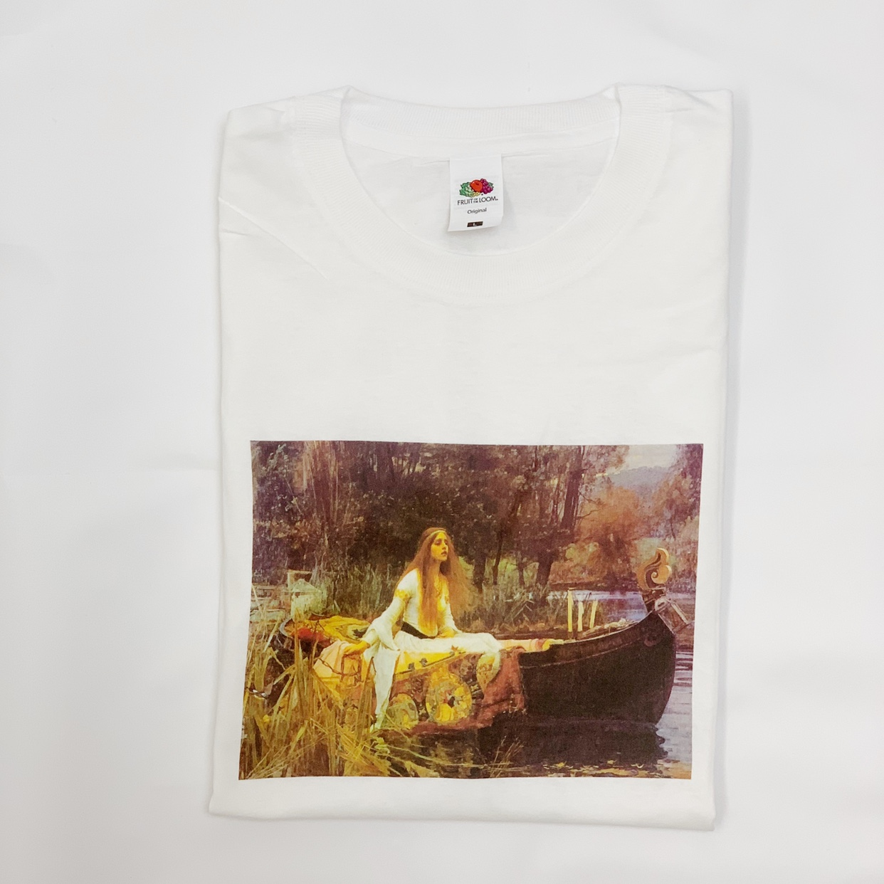aafe44327 AESTHETIC VINTAGE ART WHITE T-SHIRT just select your... - Depop