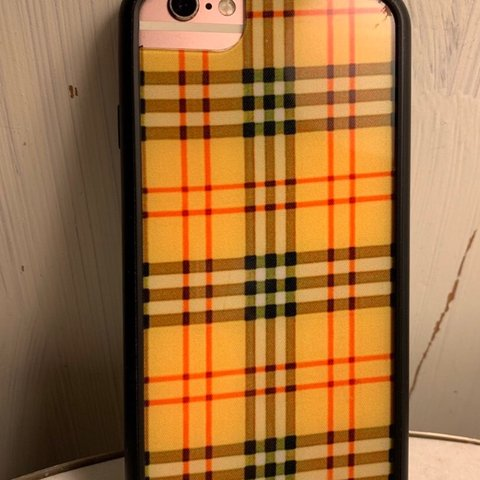 on sale 90cf4 adc57 No swaps! Yellow plaid wildflower case iPhone 6/7/8... - Depop