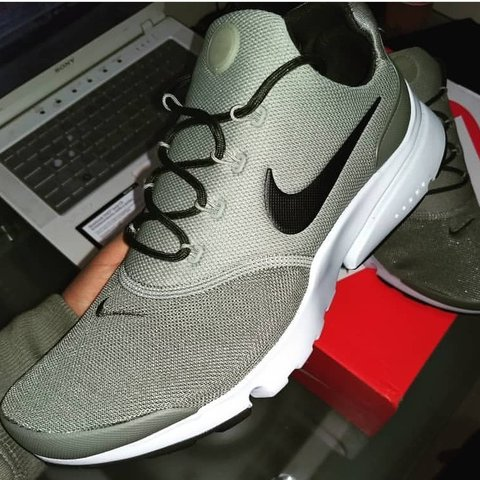 f56d1cce332a Nike Presto Fly - Olive green X white. Size 10 Worn  green - Depop