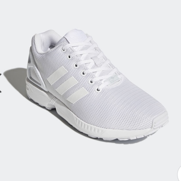 separation shoes f02a3 9061e The ZX Flux Adidas shoes, worn once, is a size 6 in... - Depop