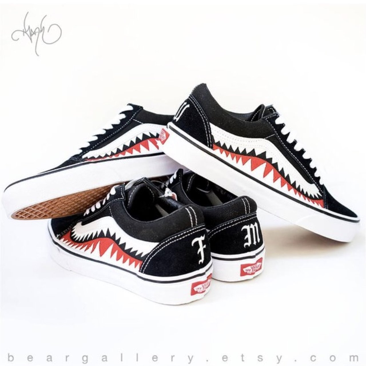 5bfdd394cb Let me paint you something! Here are some custom Vans shoes - Depop