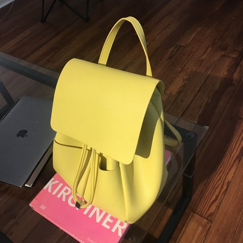 d9c75c5d0f6 ZARA BACKPACK NEW ZARA BRIGHT YELLOW BACKPACK ✨✨✨ Used ONLY - Depop