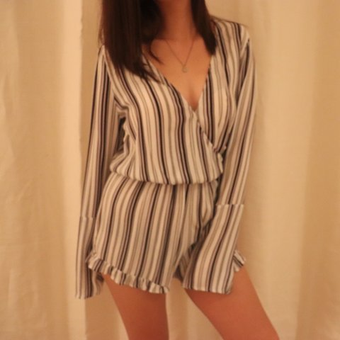 be4779ab5561 Super cute striped romper from PacSun (Kendall and Kylie Low - Depop