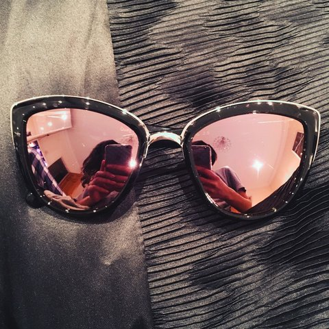 b6d0d74d3d0 Quay pink tinted mirror my girl sunglasses. Brand new - the - Depop