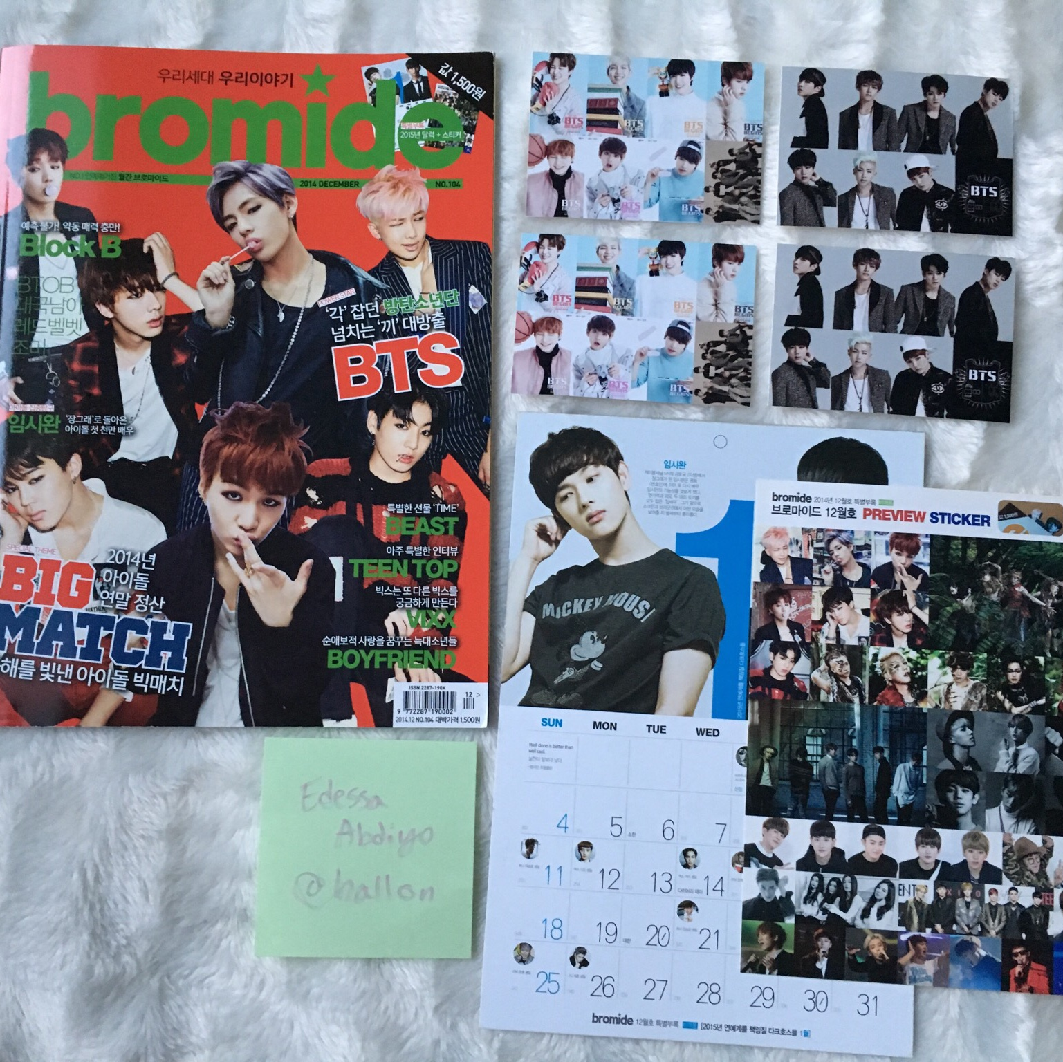 K-POP BTS BLOCK B BROMIDE MAGAZINE 2014 DECEMBER