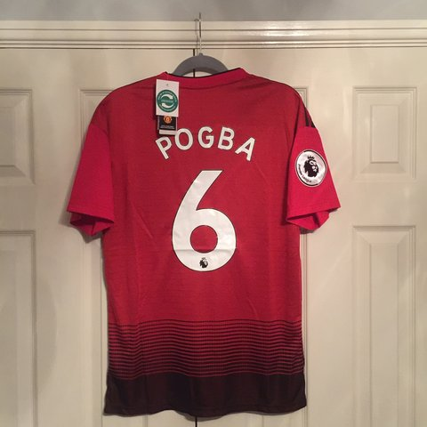 b5fca2ee0 Man United 2018 19 Home Football Shirt Kit Jersey with Pogba - Depop
