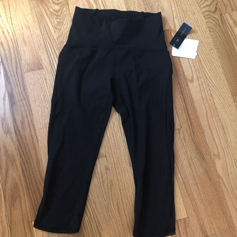 6ce5a997dd Lululemon Black cropped leggings! Never worn- new with tags - Depop