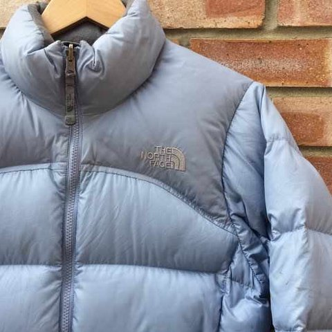 e36960ae1 Selling this baby blue north face puffer, fits a... - Depop