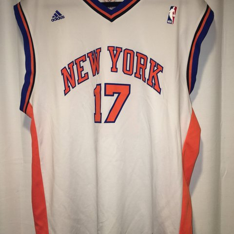 6f6eb071fff6 Authentic Jeremy Lin NBA New York Knicks Jersey Home. Adidas - Depop