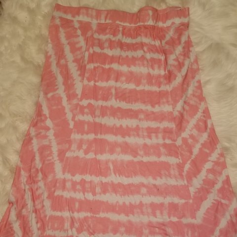 42792a6c3 A Maurices maxi skirt in a peachy pink color, striped, with - Depop