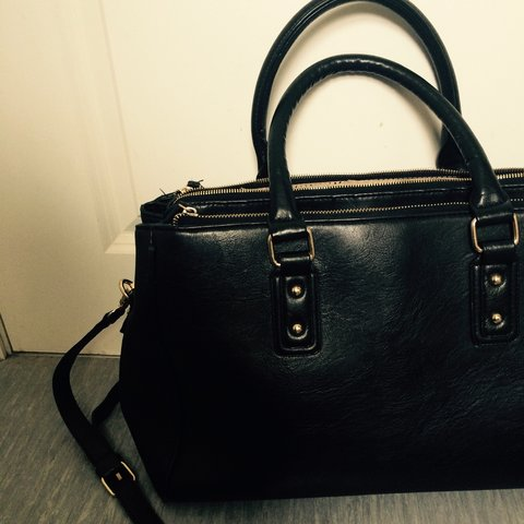 2bb7df2296b7 ... low price black dupe for the prada saffiano handbag with an extra in  depop 292b3 788b5