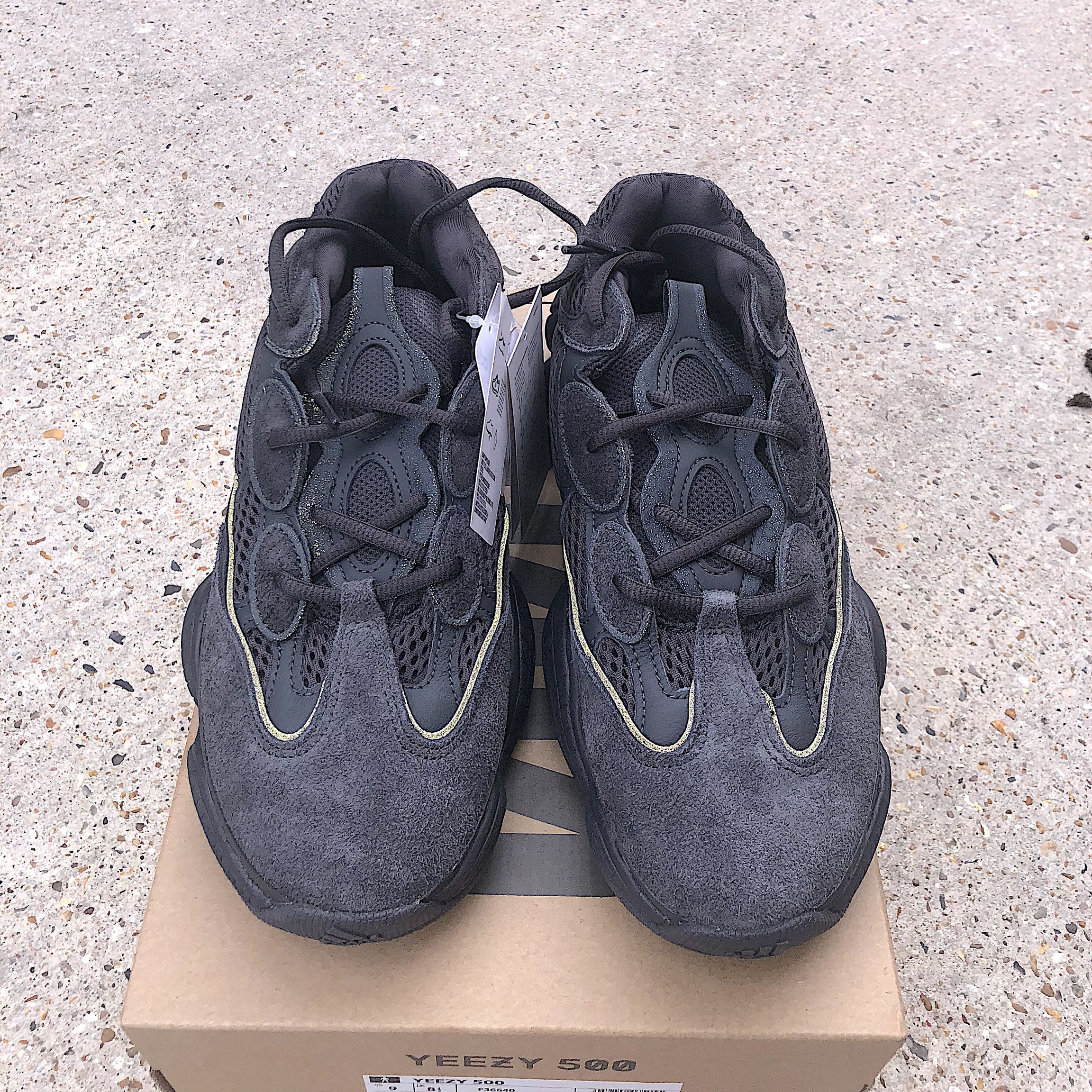 69902836f Adidas Yeezy 500 Utility Black. Deadstock Brand new with for - Depop