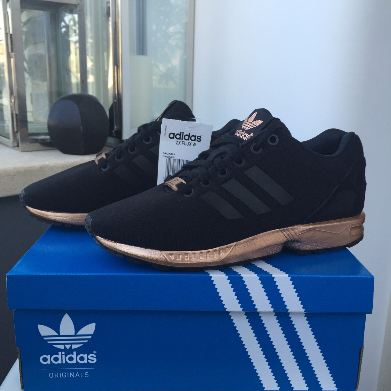 super popular d9297 21270 Women's Adidas ZX Flux Black/Copper Metallic - Sizes ...
