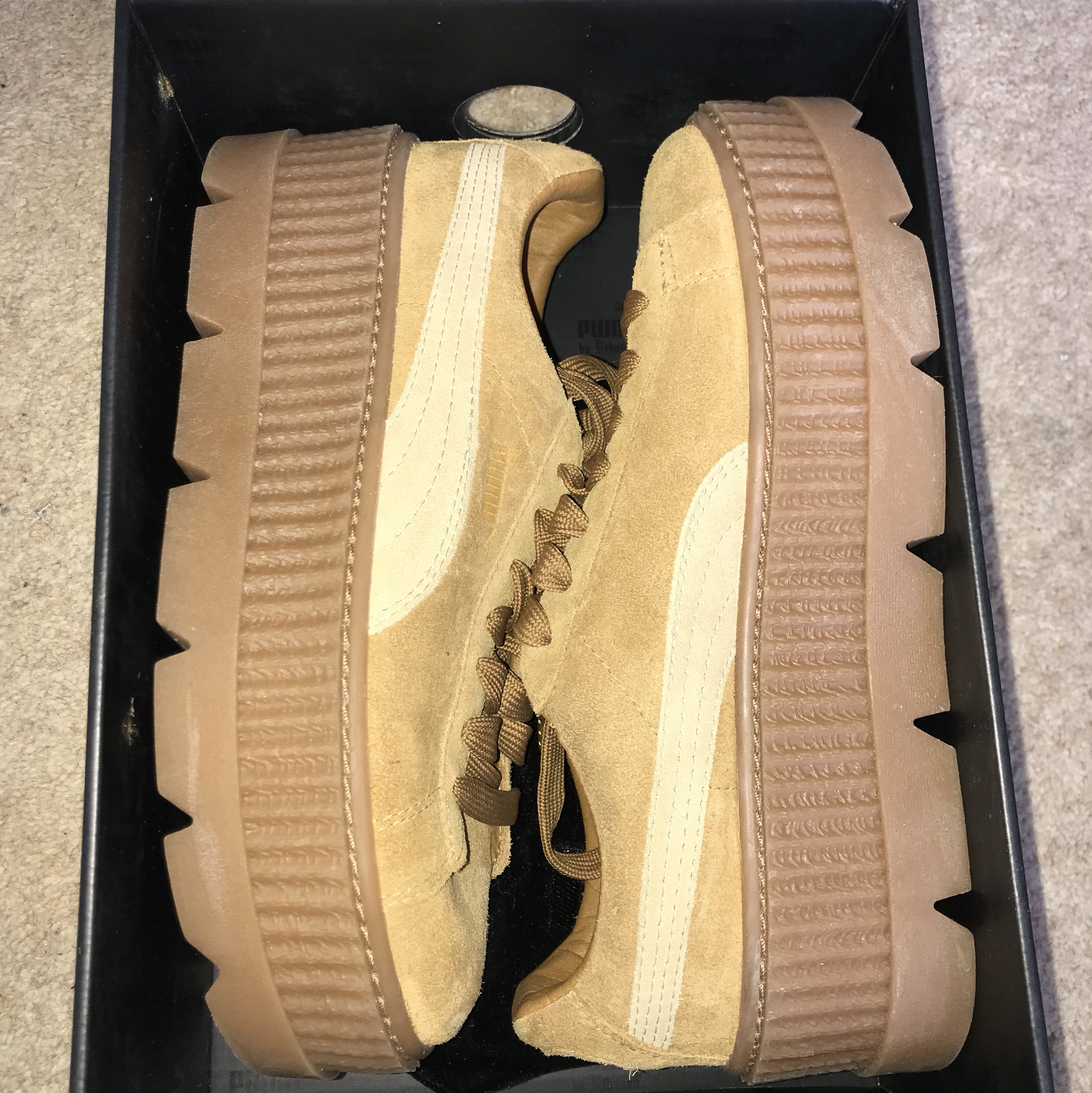 best website 305a9 850ed Puma X Fenty Suede Creepers in Sand*** Still in... - Depop