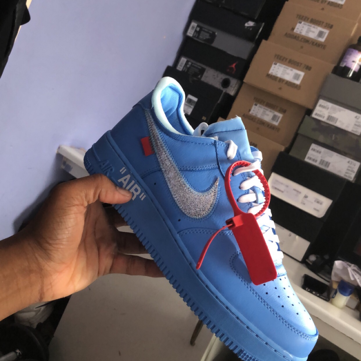 Air Force 1 Low Off White Mca University Blue Depop