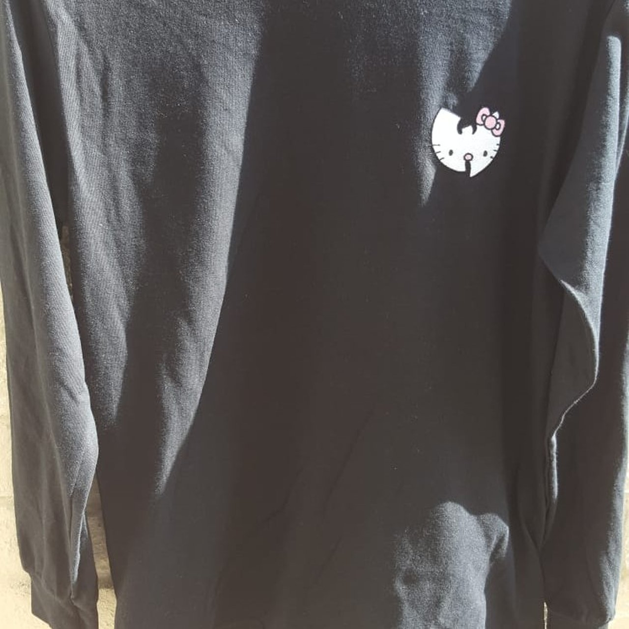 e15420b5e @biff07. 2 months ago. Cardiff, GB. Wu tang hello kitty embroidered long  sleeve ...
